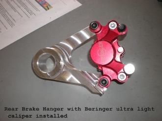 DME Rear Brake Hanger And Xtra Light Rotor and Beringer Caliper – Gen 1 Hayabusa