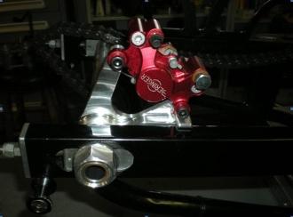 DME Rear Brake Hanger And Xtra Light Rotor - Hayabusa