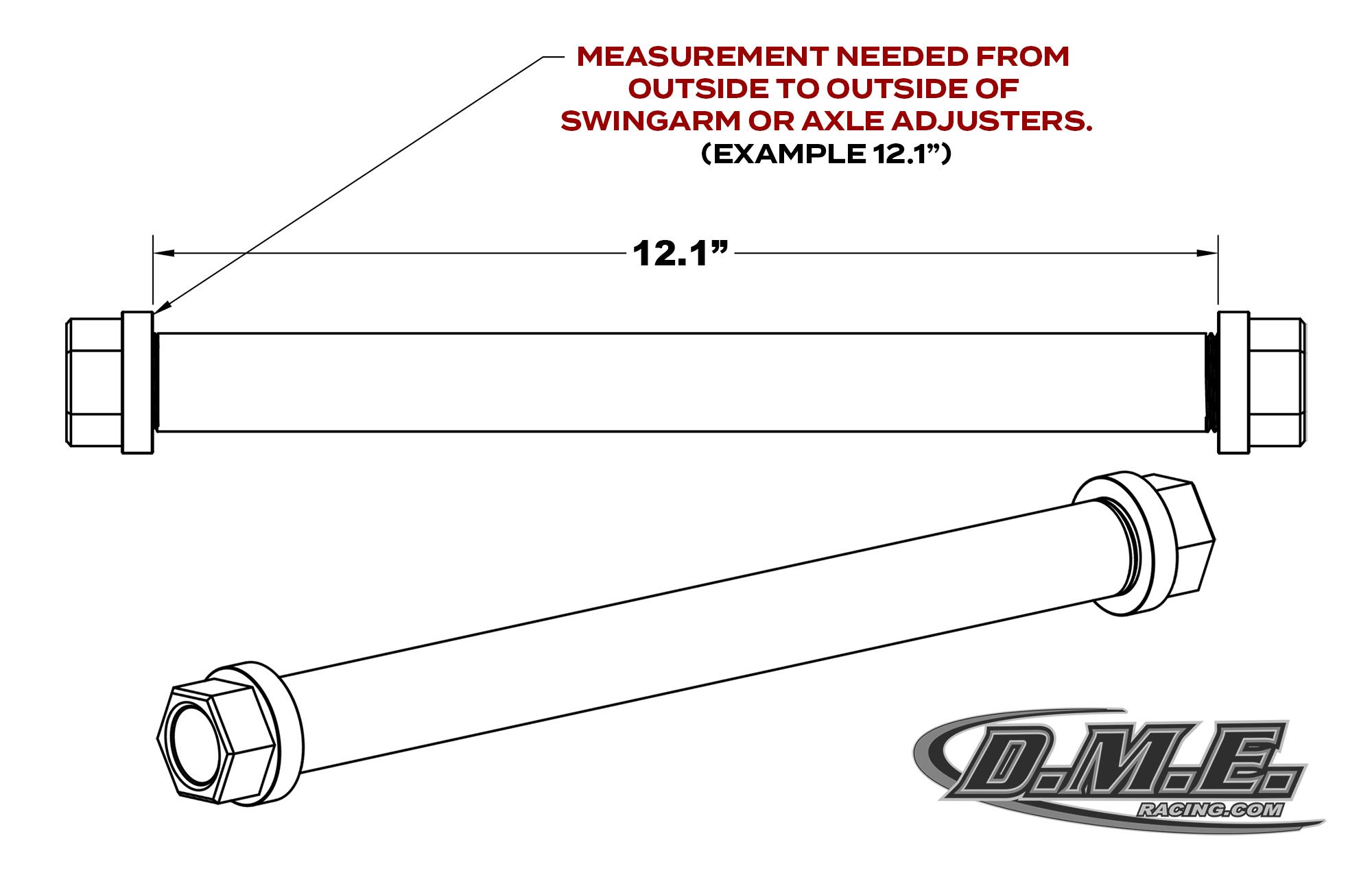DME RAcing Custom Swingarm Axle