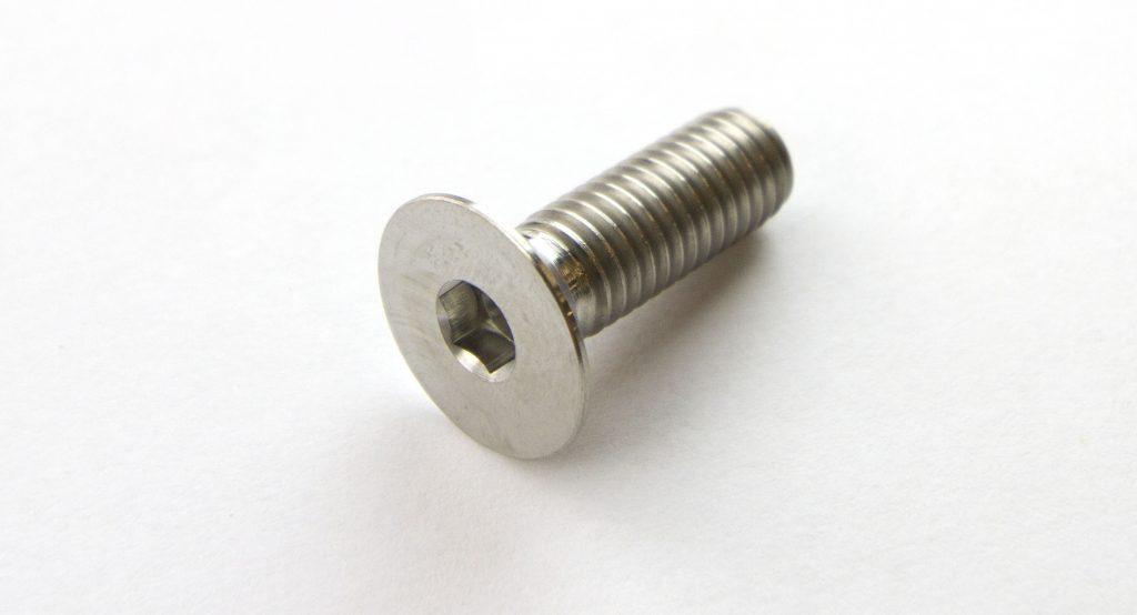 Titanium Bolt FLAT Head Socket 8 x (1 25mm) x 25mm